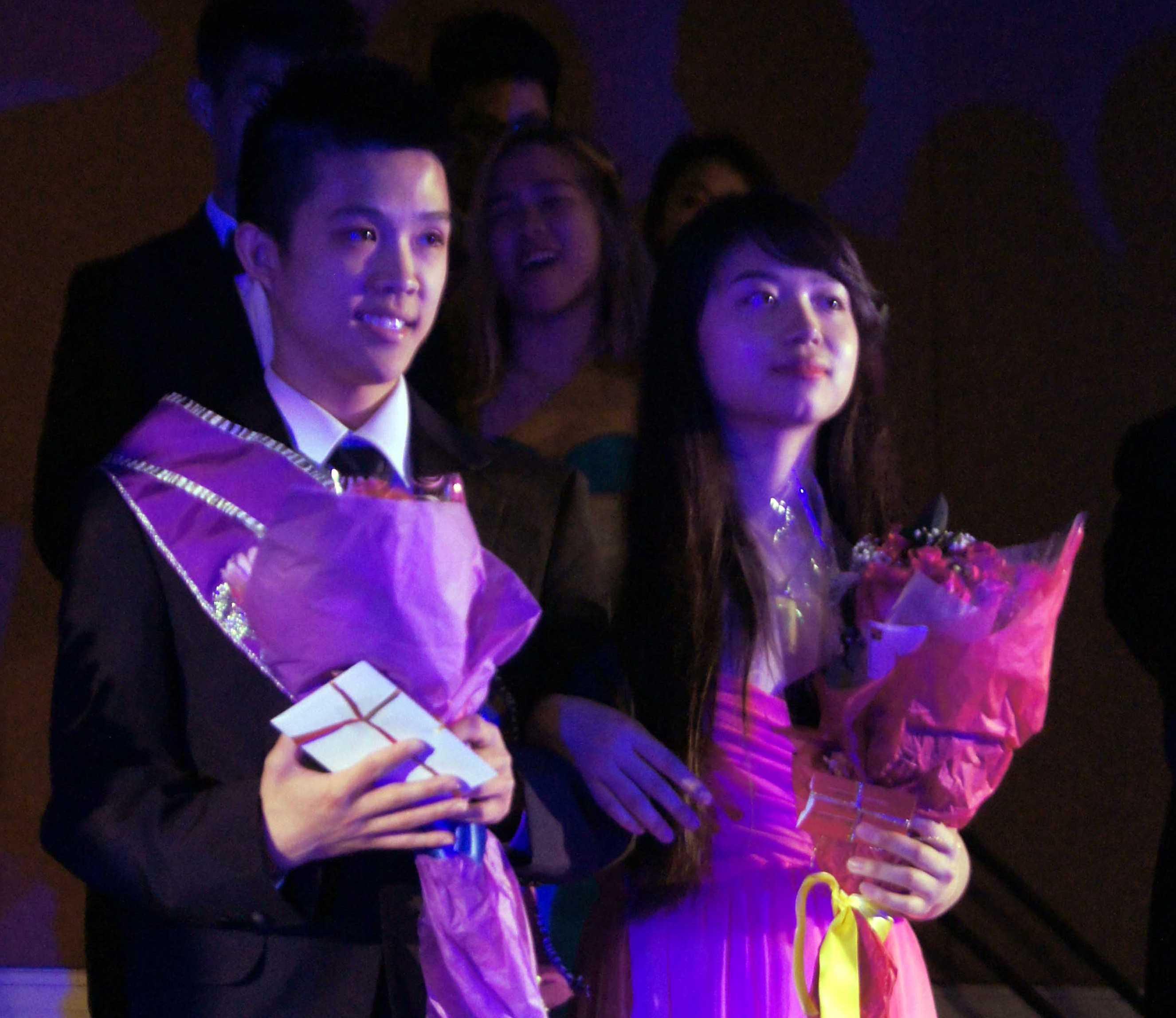 Alex Phung with Uyen Vu at the first Mr. KHS contest