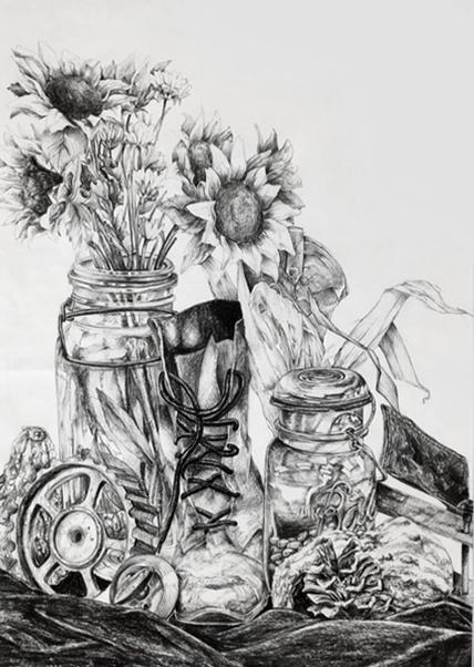 Marie Nguyen's rodeo art piece