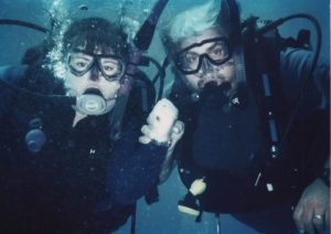 Payne and her husband go scuba diving.