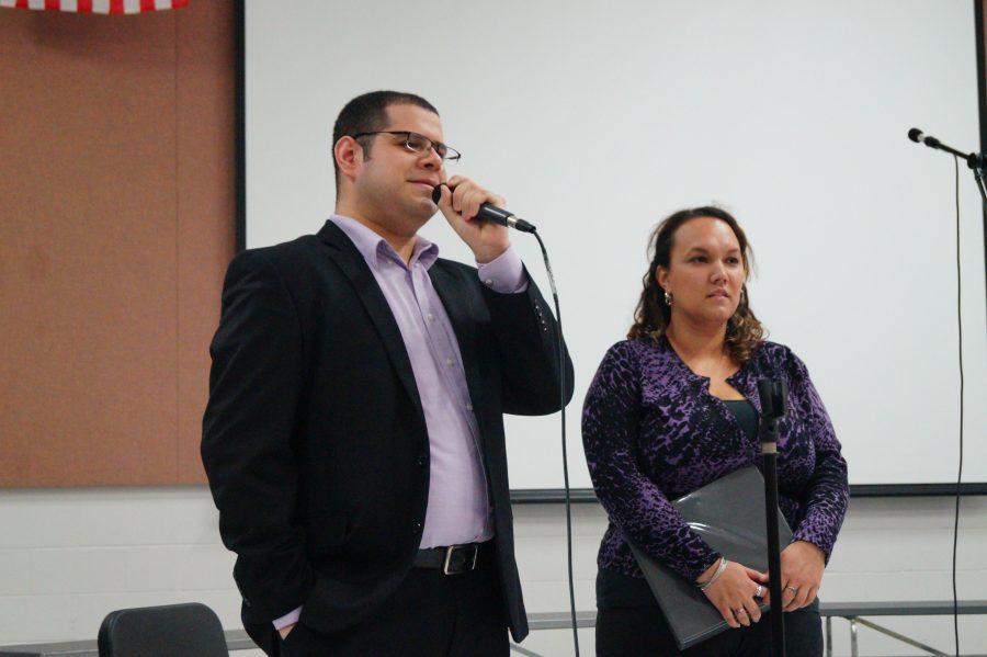 Choir directors Fredy Bonilla and Vanessa Winslow