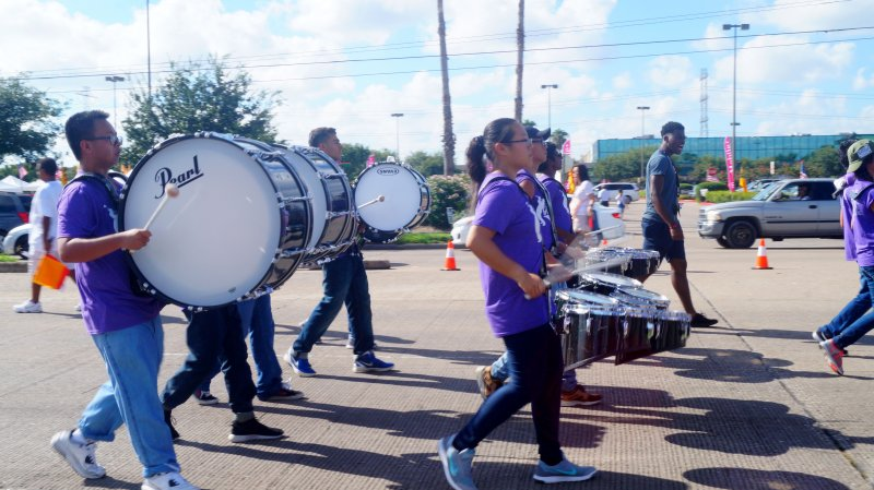 Kerr Band in Alief International Parade