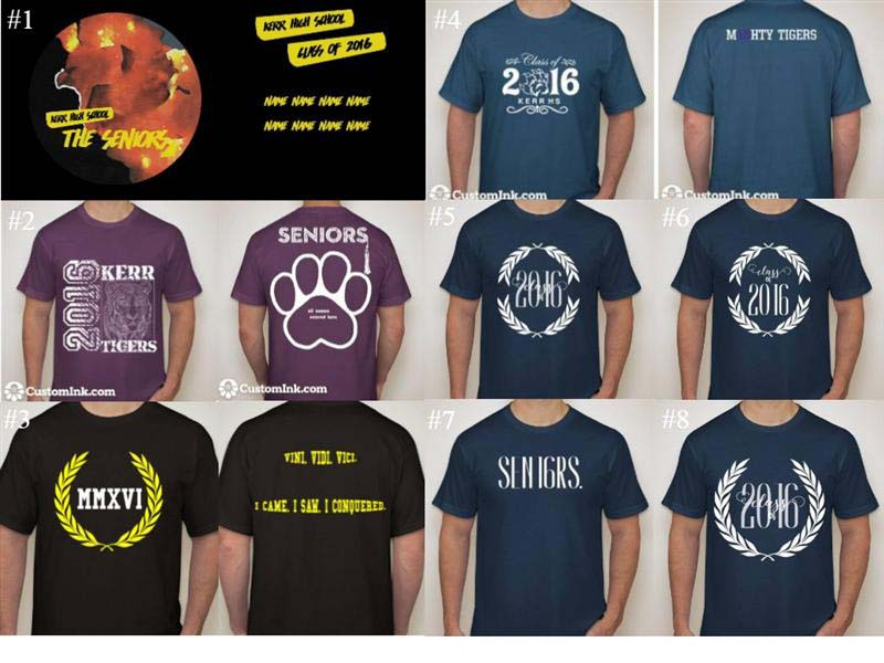 Class of 2016 T-shirt options