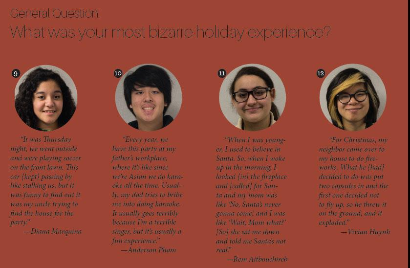 What was your most bizarre holiday experience?