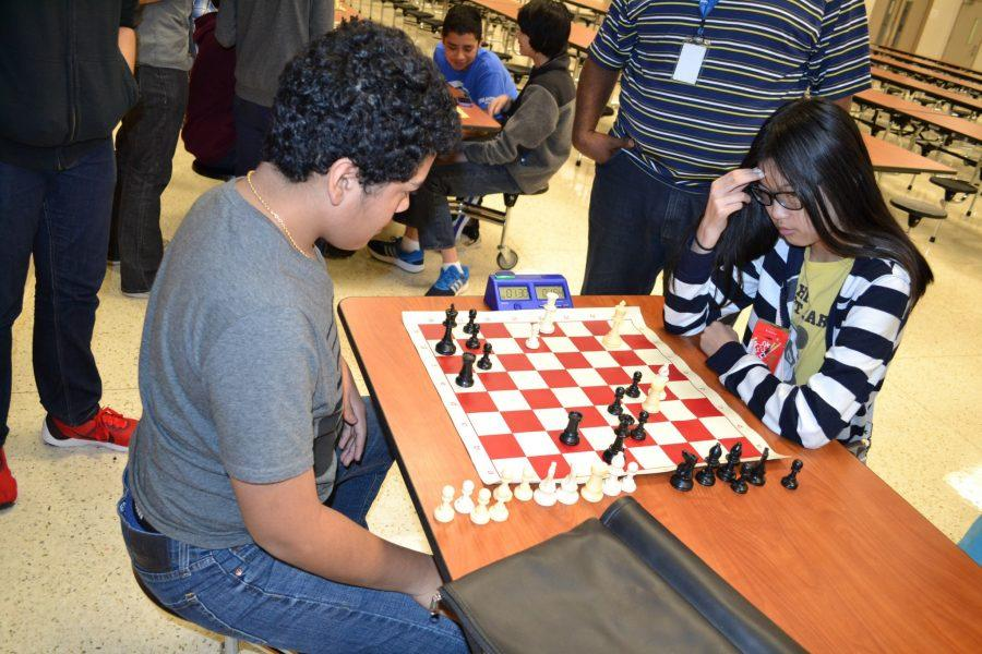 Students+participate+in+a+chess+tournament.+