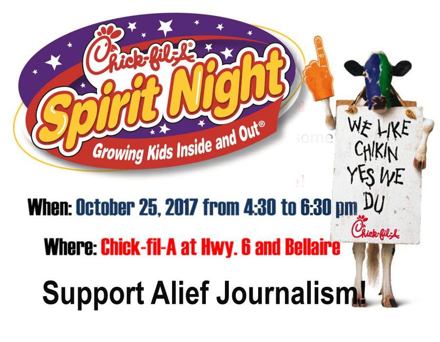 Chick-fil-A Spirit Night Oct. 25