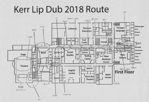 The Lip Dub Route for the 2017 event.